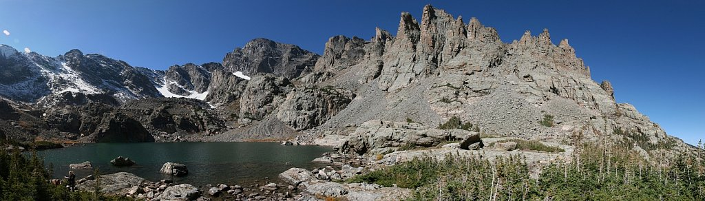 Sky Pond and The Sharkstooth