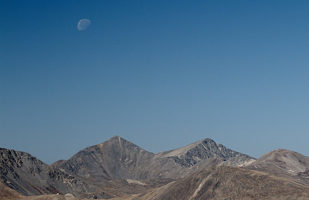 Moonset Over Grays and Torreys